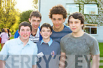 Josh Kelly, Shane Walsh, Michael Dillane, Winner Secondary Schools, Ultan Dillane and Andrni Belyakov of Tralee CBS the Green Pictured at the Young Entrepreneur Awards at the Malton Hotel Killarney on Thursday Evening.