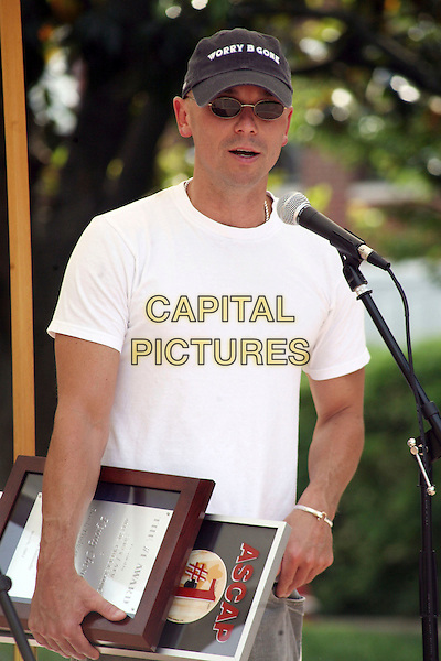 "KENNY CHESNEY.Kenny Chesney was honored at ASCAP with a Number One Party for the first song he has written ""Beer In Mexico"",.Nashville, Tennessee, USA, 9 May, 2007..half length white t-shirt cap hat sunglasses.CAP/ADM/RR.©Randi Radcliff/AdMedia/Capital Pictures."