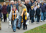 Hull City 3 Preston North End 0, 10/11/2007. KC Stadium, Championship. Hill City supporters make their way to the stadium. Photo by Paul Thompson.