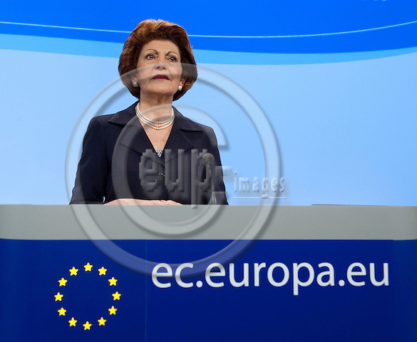 Brussels-Belgium - June 07, 2010 -- Androulla VASSILIOU, European Commissioner from Cyprus and in charge of Education, Culture, Multilingualism and Youth, during a press conference in the HQ of the EC -- Photo: Horst Wagner / eup-images