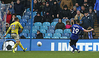 Sheffield Wednesday's Marco Matias slots home his side's fourth goal<br /> <br /> Photographer David Shipman/CameraSport<br /> <br /> The EFL Sky Bet Championship - Sheffield Wednesday v Blackburn Rovers - Saturday 16th March 2019 - Hillsborough - Sheffield<br /> <br /> World Copyright &copy; 2019 CameraSport. All rights reserved. 43 Linden Ave. Countesthorpe. Leicester. England. LE8 5PG - Tel: +44 (0) 116 277 4147 - admin@camerasport.com - www.camerasport.com