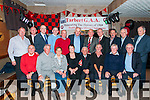 "Tarbert Golden Jubillee Team : Members  of the Tarbert Minor team that won the North Kerry Minor Championship in 1964 pictured at their jubilee celebration at the Swankey Bar, Tarbert on Friday night last. Front : Pat Kelly, Mossy O'Connell, Joan Kiely representing Paddy Donovan, Monica Cregan representing the late Joe Gregan,Finbar Carrig representing Mossie Carrig, Willie O'Connell, Patsy T. O'Connell, & Frank Wall. Back : Thomas O'Connell, Pat Kiely, Donny Finnucane, Tom O'Donnell, Joe Langan, Jim O'Connor, Denis Kiely, Tommy O'Callaghan, Patsy ""Skinny"" O'Connell, Christopher Keane & Tom Mulcaire (Mentor)."