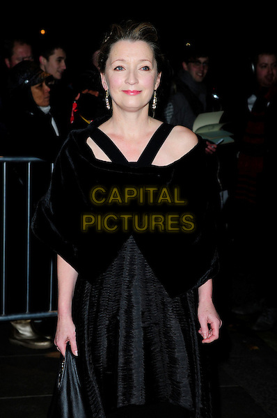 LESLEY MANVILLE .London Evening Standard Theatre Awards, The Savoy, Strand, London.England, UK, November 28th 2010..half length black straps dress velvet shrug shawl .CAP/CAS.©Bob Cass/Capital Pictures.