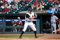 Jake Snider (20) of the Louisville Cardinals at bat against the Florida State Seminoles in Game Eleven of the 2017 ACC Baseball Championship at Louisville Slugger Field on May 26, 2017 in Louisville, Kentucky. The Seminoles defeated the Cardinals 6-2. (Brian Westerholt/Four Seam Images)