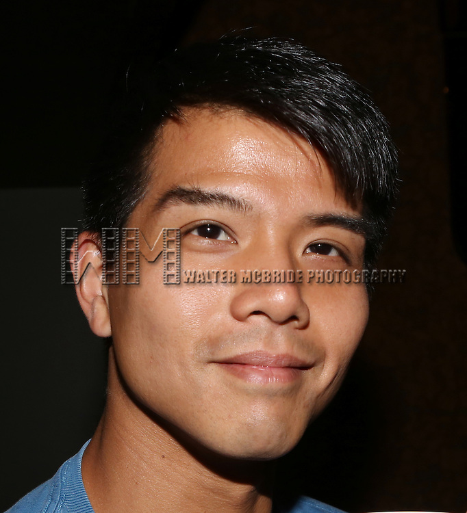 Telly Leung posing for the 'Wake Up with Broadwayworld.com' campaign at Joe's Pub on June 16, 2014 in New York City.
