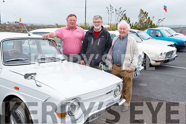 Mike O'Connor, Tony Darmody and Michael Egan pictured at the Blennerville Treshing Festival on Sunday.