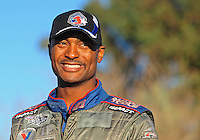 Jan 25, 2009; Chandler, AZ, USA; NHRA top fuel dragster driver Antron Brown during testing at the National Time Trials at Firebird International Raceway. Mandatory Credit: Mark J. Rebilas-