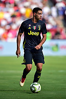Landover, MD - August 4, 2018: Juventus defender Mattia De Sciglio (2) with the ball during the match between Juventus and Real Madrid at FedEx Field in Landover, MD.   (Photo by Phillip Peters/Media Images International)