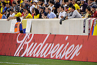 Bud. The men's national team of the United States (USA) was defeated by Ecuador (ECU) 1-0 during an international friendly at Red Bull Arena in Harrison, NJ, on October 11, 2011.