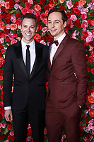 NEW YORK, NY - JUNE 10:  Todd Spiewak and  Jim Parsons  at the 72nd Annual Tony Awards at Radio City Music Hall in New York City on June 10, 2018.