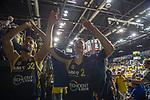 02.06.2019, EWE Arena, Oldenburg, GER, easy Credit-BBL, Playoffs, HF Spiel 1, EWE Baskets Oldenburg vs ALBA Berlin, im Bild<br /> Sieg!!!<br /> Johannes TIEMANN (ALBA Berlin #32 ) Franz WAGNER (ALBA Berlin #22 )<br /> Foto © nordphoto / Rojahn