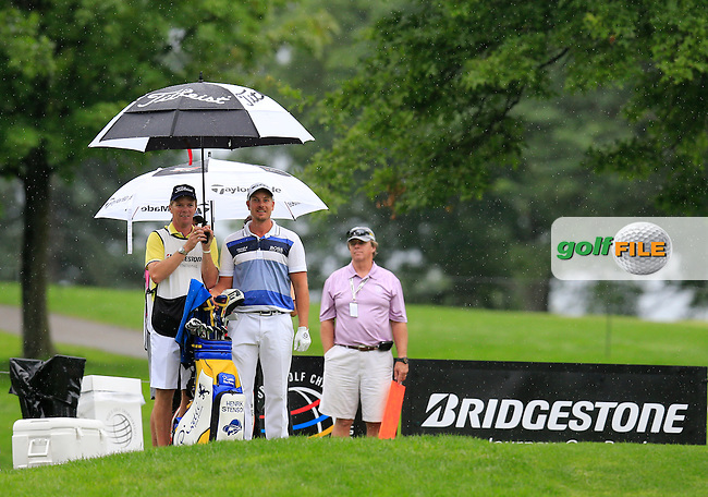 Henrik Stenson (SWE) on the 9th tee during Friday's Round 1 of the 2013 Bridgestone Invitational WGC tournament held at the Firestone Country Club, Akron, Ohio. 2nd August 2013.<br /> Picture: Eoin Clarke www.golffile.ie