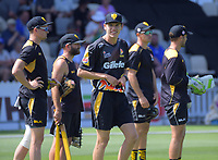 Ben Sears warms up for the Burger King Super Smash T20 cricket match between the Wellington Firebirds and Canterbury Kings at Basin Reserve in Wellington, New Zealand on Sunday, 6 January 2019. Photo: Dave Lintott / lintottphoto.co.nz
