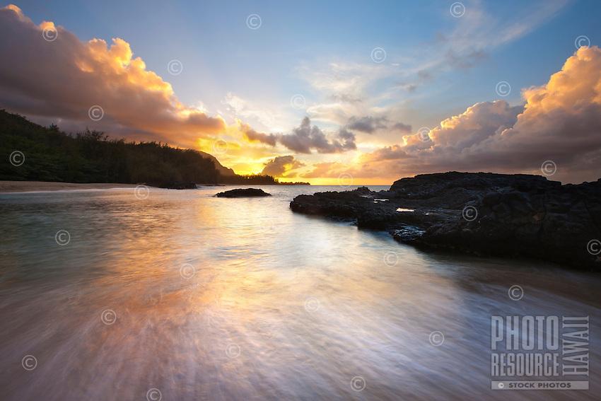 Sunset at Lumahai Beach, Kauai