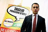 Minister of Labour Luigi Di Maio<br /> Rome January 31st 2019. Press conference of the Minister of Labour to explain what the Movement 5 Stars party has done during this months of Government.<br /> Foto Samantha Zucchi Insidefoto