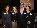 Sarah Stern, Kathryn Erbe, Douglas Aibel and Judy Kuhn  during the Vineyard Theatre's Emerging Artists Luncheon honoring Charly Evon Simpson with the Paula Vogel Playwriting Award at the National Arts Club on November 25, 2019 in New York City.