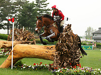 LEXINGTON, KY - April 29, 2017. #4 Clip Clop and Joe Meyer from New Zealand compete in the Cross Country test at the Rolex Three Day Event at the Kentucky Horse Park.  Lexington, Kentucky. (Photo by Candice Chavez/Eclipse Sportswire/Getty Images)