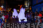 The White Horses gallop down Plunkett Street entertaining the crowd at the Christmas in Killarney parade on Saturday evening