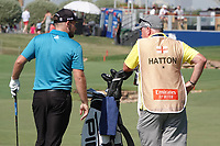 Tyrrell Hatton (ENG) during the third round of the DP World Championship, Earth Course, Jumeirah Golf Estates, Dubai, UAE. 23/11/2019<br /> Picture: Golffile | Phil INGLIS<br /> <br /> <br /> All photo usage must carry mandatory copyright credit (© Golffile | Phil INGLIS)