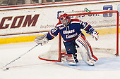 Connor Hellebuyck (UML - 37) - The University of Massachusetts Lowell River Hawks defeated the Boston College Eagles 4-2 (EN) on Tuesday, February 26, 2013, at Kelley Rink in Conte Forum in Chestnut Hill, Massachusetts.