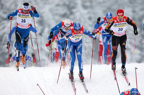02 01 2010  Ski Nordic FIS WC Oberhof Tour de Ski Oberhof Germany 02 Jan 10 Ski Nordic Cross-country skiing FIS World Cup Tour de Ski 15km classic men Picture shows Robin Duvillard FRA Nikolai  RUS and Rena Sommerfeldt ger .