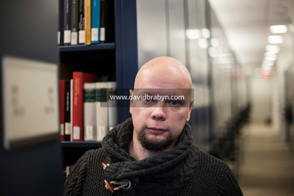 HS 20161222 USA, New Jersey, University of Princeton. Astro-biologist Olli-Pekka Vainio poses for the photographer. Photographer: David Brabyn