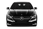 Car photography straight front view of a 2018 Mercedes Benz CLA Coupe Business Solution 4 Door Sedan