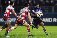 Aled Brew of Bath Rugby in possession. Anglo-Welsh Cup match, between Bath Rugby and Gloucester Rugby on January 27, 2017 at the Recreation Ground in Bath, England. Photo by: Patrick Khachfe / Onside Images
