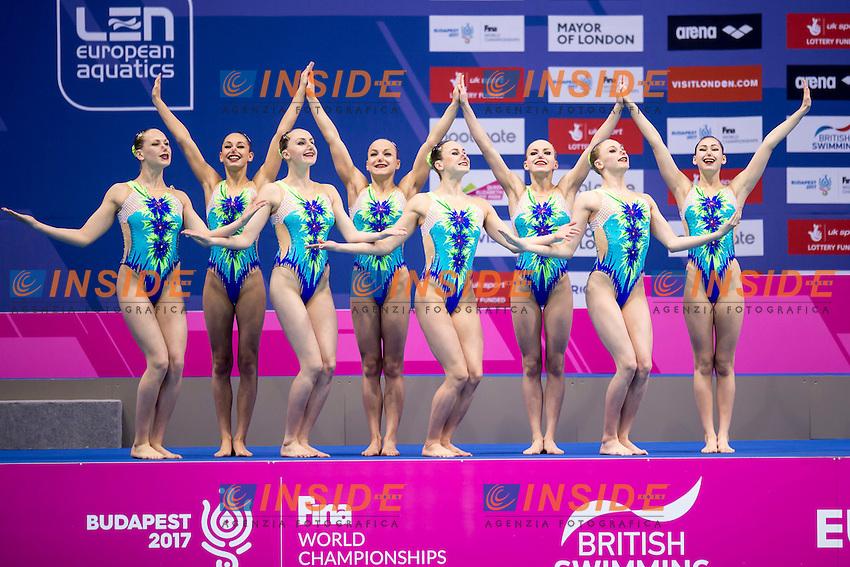 Team BEL Belarus<br /> London, Queen Elizabeth II Olympic Park Pool <br /> LEN 2016 European Aquatics Elite Championships <br /> Team Technical final<br /> Day 01 09-05-2016<br /> Photo Giorgio Scala/Deepbluemedia/Insidefoto