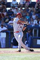 Tyler Ratliff (14) of the Spokane Indians bats against the Hillsboro Hops at Ron Tonkin Field on July 22, 2017 in Hillsboro, Oregon. Spokane defeated Hillsboro, 11-4. (Larry Goren/Four Seam Images)