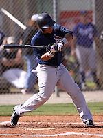 Bryan De La Rosa during the World Wood Bat Association Championships at Roger Dean Sports Complex on October 23, 2011 in Jupiter, Florida.  (Stacy Grant/Four Seam Images)