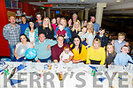 Patrick Kenny from Ballyheigue celebrating his 30th birthday in the Kingdom Greyhound Track with his family and friends on Friday night.  <br /> Seated l-r, Leah Hickey, Timothy, Patrick and Saoirse Kenny, Anna Helly and Margaret Kenny.