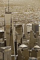 aerial photograph One World Trade Center,Manhattan, New York City