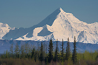 Mount Hayes is the highest mountain in the eastern Alaska Range. 13,832 ft (4,216 m).