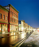 USA, Colorado, Telluride, ski town of Telluride at night