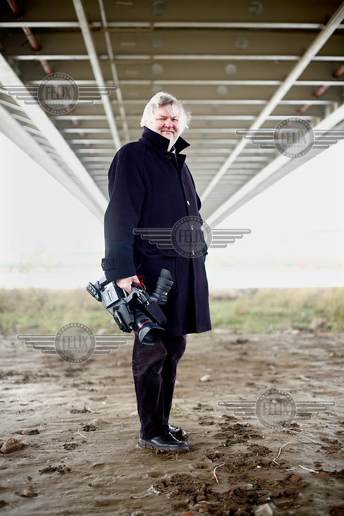 Film producer Krzysztof Kopczynski beside the Vistula River.
