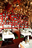 USA, California, San Francisco, an Italien restaurant is covered in photographs, North Beach