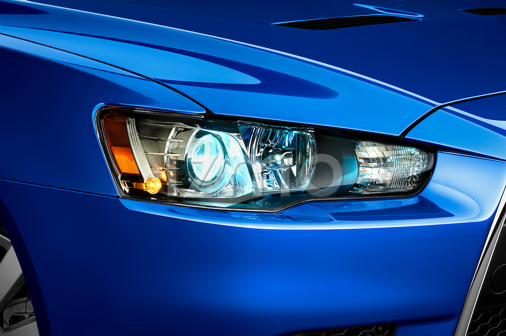 Headlight on a 2010 Mitsubishi Lancer Sportback