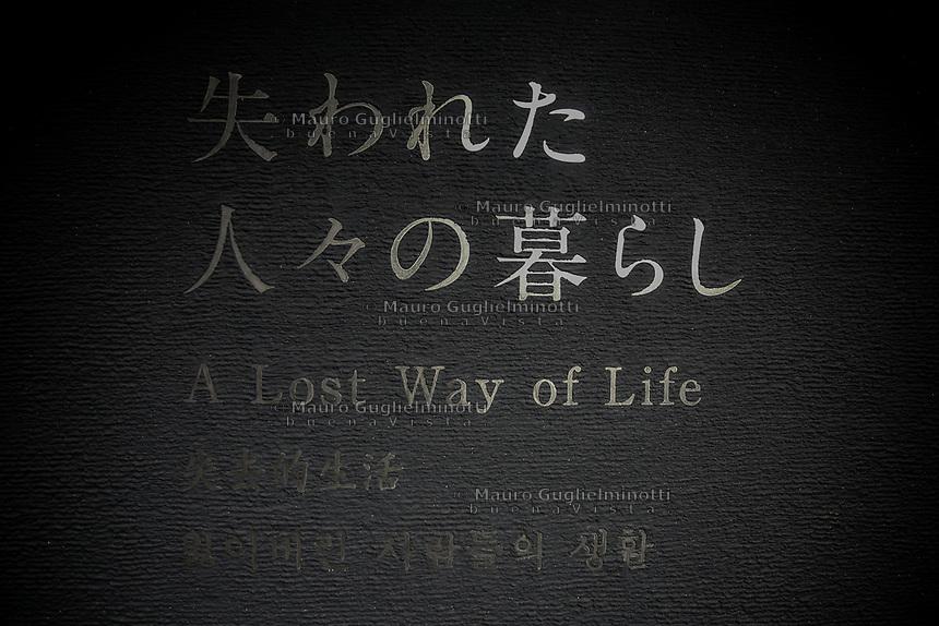 pannello esplicativo un modo di vivere perduto