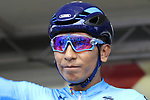 Nairo Quintana of Colombia at sign on before the Men Elite Road Race of the UCI World Championships 2019 running 280km from Leeds to Harrogate, England. 29th September 2019.<br /> Picture: Eoin Clarke | Cyclefile<br /> <br /> All photos usage must carry mandatory copyright credit (© Cyclefile | Eoin Clarke)