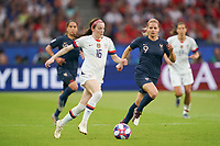 PARIS, FRANCE - JUNE 28: Rose Lavelle #16 during a 2019 FIFA Women's World Cup France quarter-final match between France and the United States at Parc des Princes on June 28, 2019 in Paris, France.
