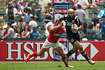 New Zealand vs Argentina during the HSBC Sevens Wold Series Cup Quarter Finals match as part of the Cathay Pacific / HSBC Hong Kong Sevens at the Hong Kong Stadium on 29 March 2015 in Hong Kong, China. Photo by Manuel Bruque / Power Sport Images