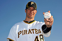 Feb 28, 2010; Bradenton, FL, USA; Pittsburgh Pirates  pitcher Javier Lopez (48) during  photoday at Pirate City. Mandatory Credit: Tomasso De Rosa/ Four Seam Images
