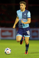 Dan Rowe of Wycombe Wanderers during the Friendly match between Aldershot Town and Wycombe Wanderers at the EBB Stadium, Aldershot, England on 26 July 2016. Photo by Alan  Stanford.