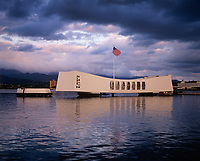 USS Arizona Battleship Memorial, Pearl Harbor, Oahu, Hawaii, USA.