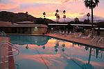 Desert Braemar pool at sunset