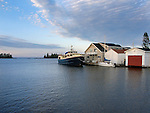 A House And Boats In Copper Harbor, Michigan, Upper Peninsula, Lake Superior, USA : Low Res File - 8X10 To 11X14 Or Smaller, Larger If Viewed From A Distance