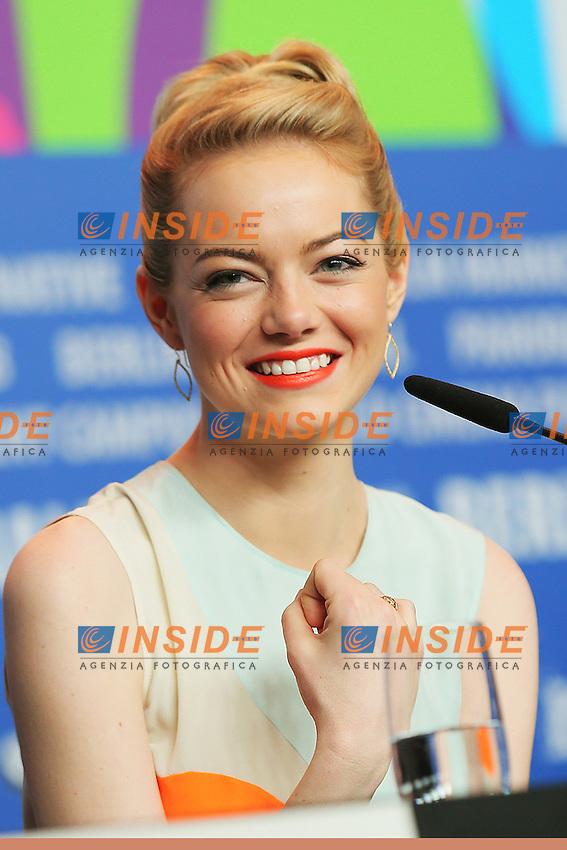 Emma Stone. Berlin 15/02/2013. 63th Berlinale 'The Croods' press Conference. foto Mark Cape/Insidefoto