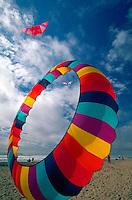 Spring kite festival with circular kite