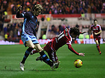 Glenn Loovens of Sheffield Wednesday bringing down Diego Fabbrini of Middlesbrough - Sky Bet Championship - Middlesbrough vs Sheffield Wednesday - Riverside Stadium - Middlesbrough - England - 28th of December 2015 - Picture Jamie Tyerman/Sportimage